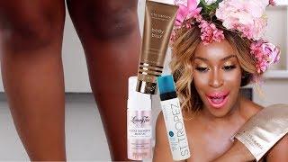 DOES It Work?! Self Tan for Dark Skin?! I'M DEADDDD! ! | Jackie Aina