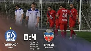 Обзор матч «Динамо-Минск» - «Енисей» 0:4