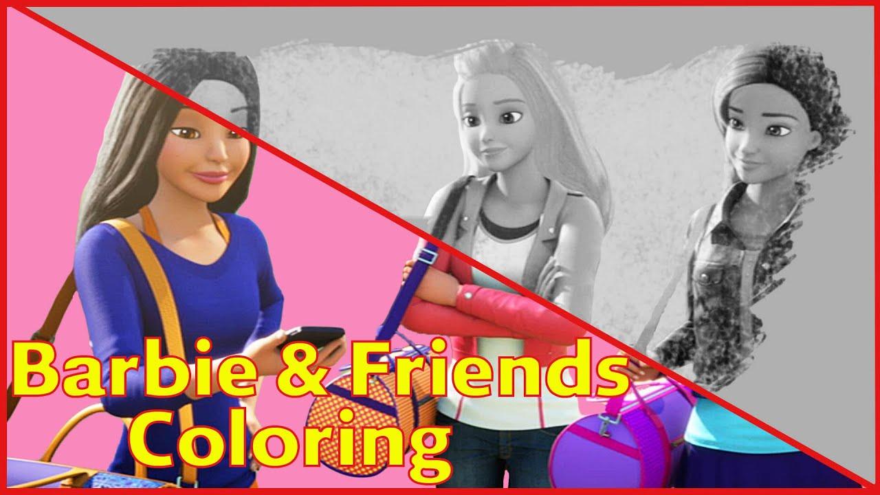 barbie coloring pages spy squad part 7 barbie coloring pages