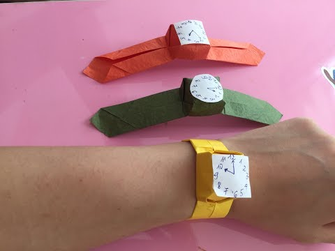 How To Make A Paper Wrist Watch   Easy Origami Step By Step For Beginners