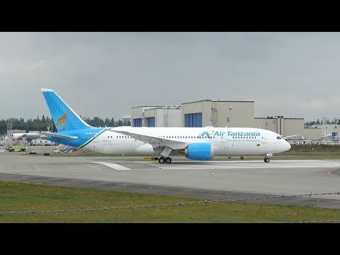 Air Tanzania | 787-8 | 5H-TCG | Takeoff from Seattle Everett/Paine Field (PAE)