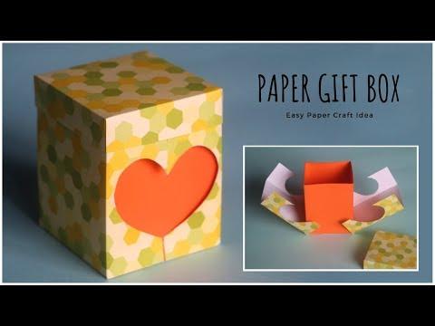 Gift Box DIY Craft   Paper Gift Box   Paper Craft   Heart Box   DIY Gift Ideas