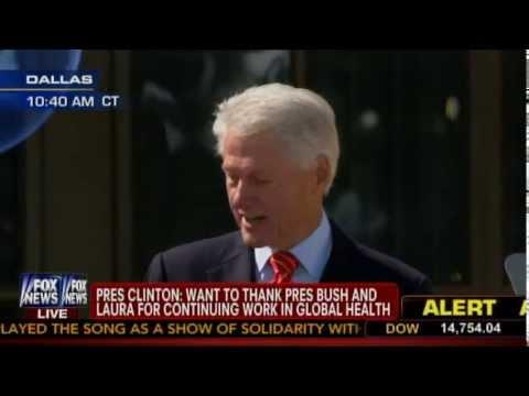 Bill Clinton Speaks at Dedication of George W. Bush Presidential Center