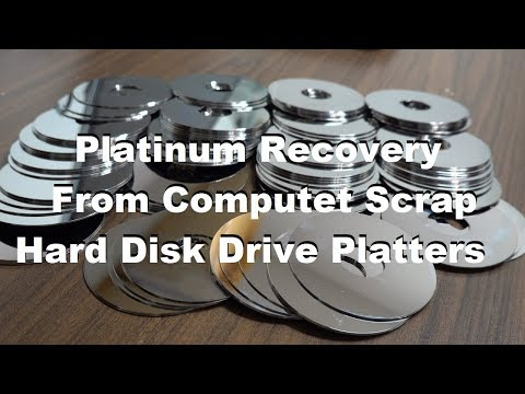 Platinum Recovery From Computer Scrap HDD Platters