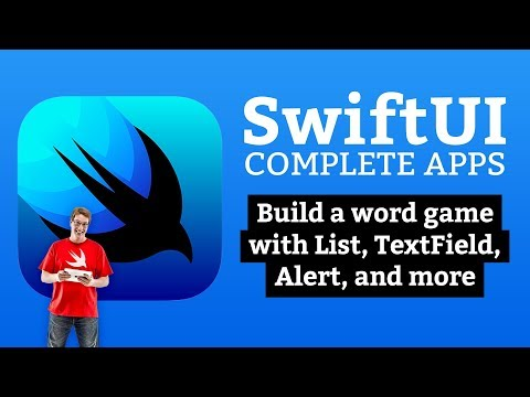 SwiftUI Tutorial: Build a word game with List, TextField, Alert, and more thumbnail