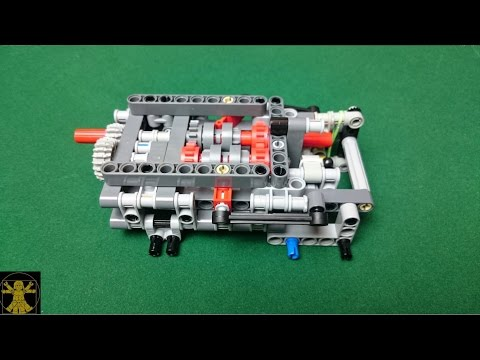 Lego Technic 4 Speed 4WD Sequential Gearbox Building Instructions