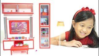 Mainan Anak Modern Living Room 💖 Mainan Rumah Rumahan Ruang Keluarga 💖 Let's Play Jessica