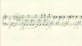 """Partitura del acompañamiento de piano de """"JUEVES"""", de LODVG"""