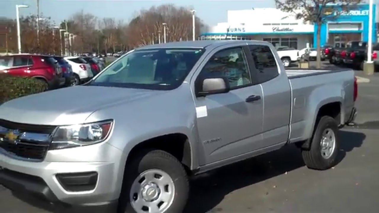 2016 Chevrolet Colorado Ext Cab Wt Burns Cadillac Rock Hill Sc Charlotte Nc Pineville