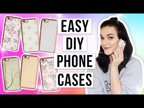 SUPER Cheap & Easy DIY Phone Cases!! | ohhitsonlyalice
