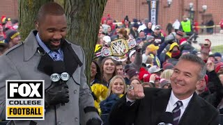 Urban Meyer gets hostile welcome from Michigan fans; Charles Woodson gets hero welcome | CFB ON FOX