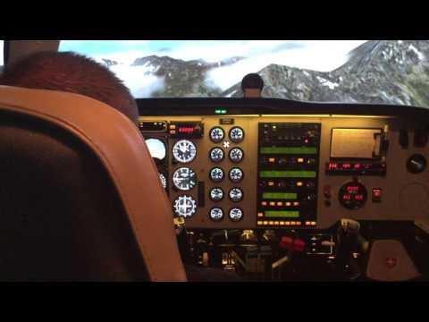Baron 58 Simulator test flight