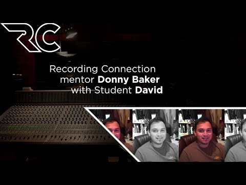 Donny Baker Recording Connection Mentor with Student David