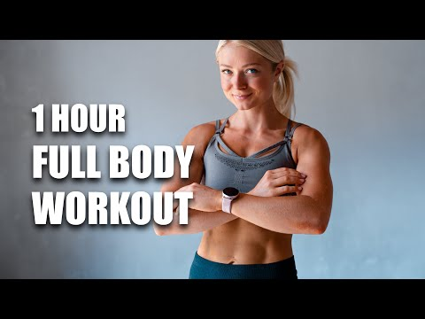 1 HOUR FULL BODY WORKOUT at home - No Jumping - No Repeat - No Equipment - Low Impact HIIT
