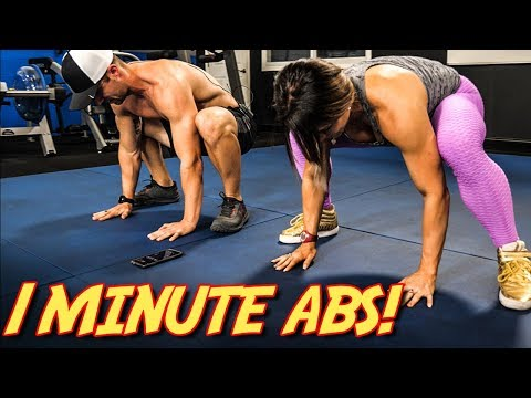 1-Minute CORE & ABS Workout (Bodyweight Exercise SIX PACK Routine)