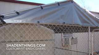 Kennel Covers, Custom End Covers For Your Open End Kennel Cover