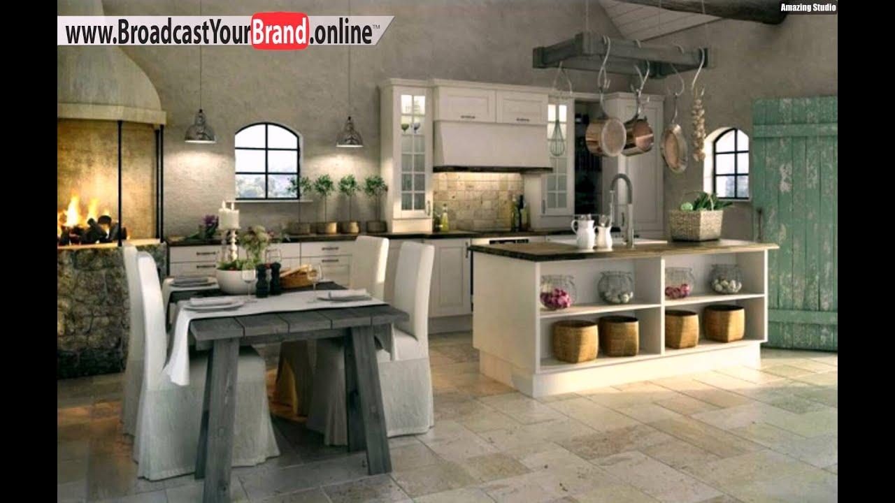Wohnideen Küche Rustikal Landhaus Hängende Pfannen