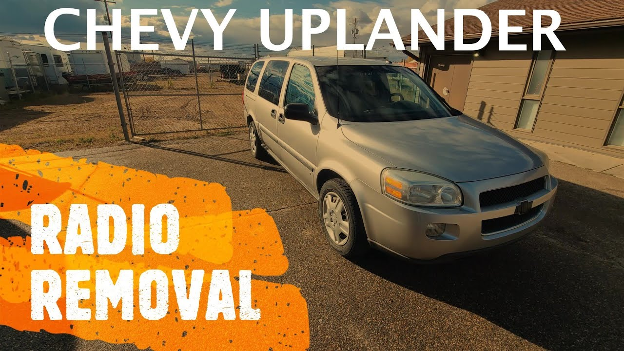 chevrolet uplander - radio replacement / removal (2005-2009) - youtube  youtube