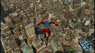 【スパイダーマン】ニューヨークを飛び回る動画【PS4】