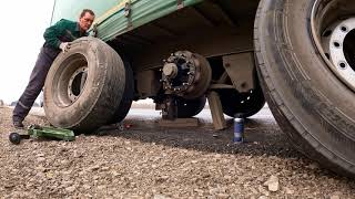 Меняем колесо на трассе. Документация. лесные пожары в России. Шинная лига