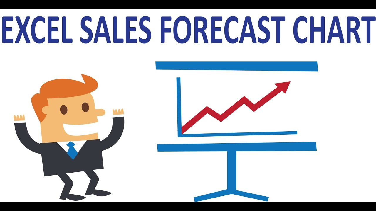 excel charts show sales and forecast data in the same line youtube