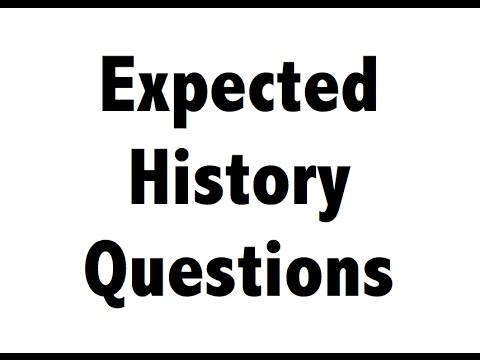 History Multiple choice questions Quiz for SSC CHSL , SSC CGL , UPSC, CDS, NDA,CLAT,IHM,Railways