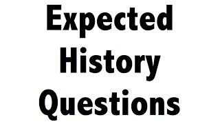 History Multiple choice questions Quiz for SSC CHSL , SSC CGL , UPSC, CDS, NDA,CLAT,IHM,Railways