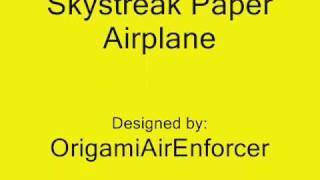 How To Build The Skystreak Paper Airplane