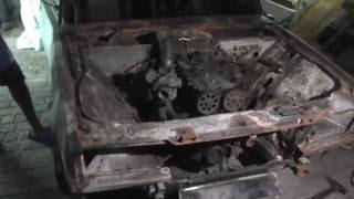 Обзор обгоревшей ВАЗ 2107 Турбо Жени Шалопая с Днепра совместно с GBK, поможем Жеке????