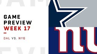 Dallas Cowboys vs. New York Giants | Week 17 Game Preview | Move the Sticks