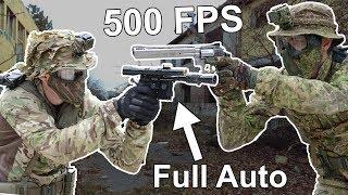 Full Auto Blaster vs 500FPS Revolver | 1vs1 Challenge