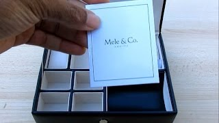 "Mens ""all In One"" Jewelry Box (jewerly Holder, Valet Tray And Watch Box)"