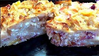 Самый Быстрый, простой и вкусный пирог из лаваша с фруктами и творогом