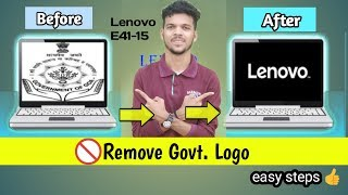Why not work logo change process on lenovo e41 15