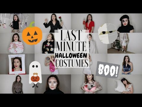 20 SUPER LAST MINUTE HALLOWEEN COSTUMES 2017