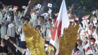 Pembukaan Asian Games 2018, Kontingen China Taipe Bentangkan Spanduk Jepang Kibarkan Merah Putih