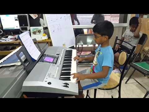 Musical Momements Bangalore Student Mr.Nikhil Performing Trinity London Initial Keyboard Song