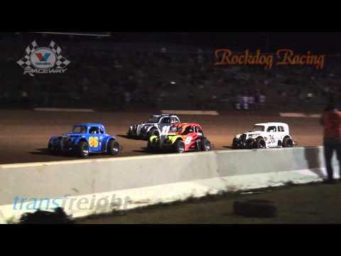 Legend Car A Main - 1st February 2014 - Valvoline Raceway - Rockdog Racing Videos