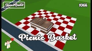 ROBLOX │Bloxburg - [SpeedBuild] Picnic Basket │CRACK the CODE