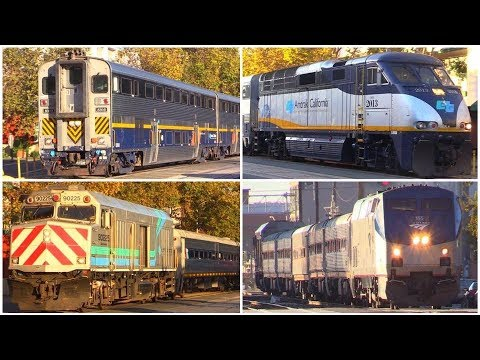Amtrak Trains in Northern California (Jack london Square)