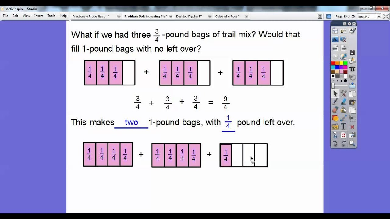 problem solving adding fractions