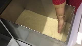 Rice storage unit /Modular kitchen designing ideas  / Tips on kitchen organising