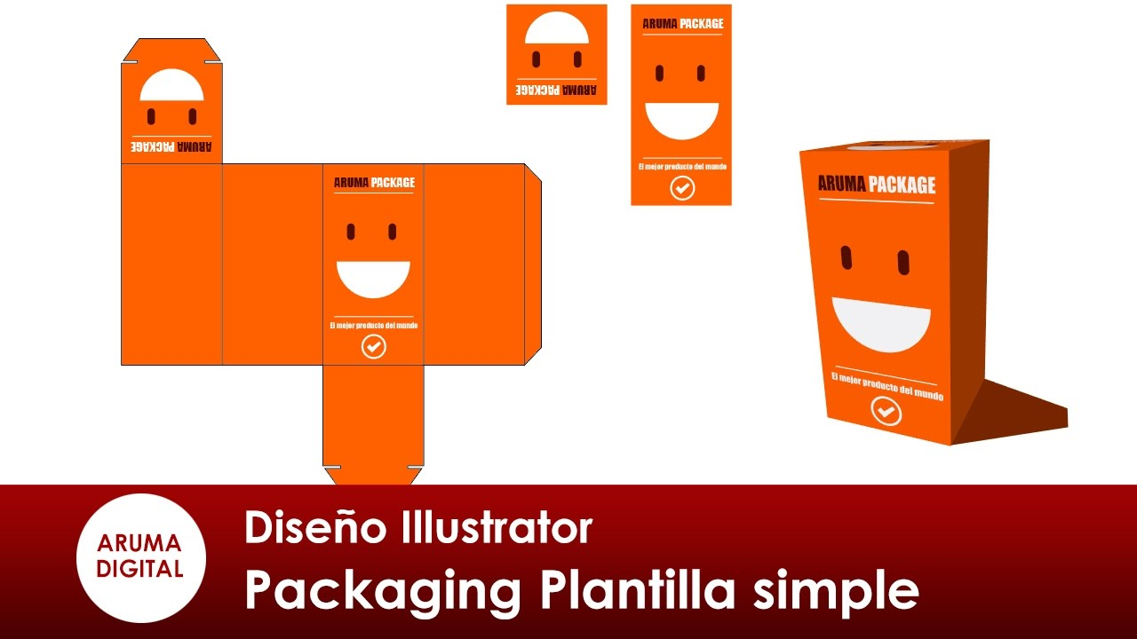 Illustrator 292 Packaging Plantilla simple y previsualizacion - YouTube