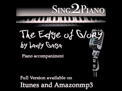 "LADY GAGA ""The Edge of Glory"" (Piano backing for your cover/karaoke version)"