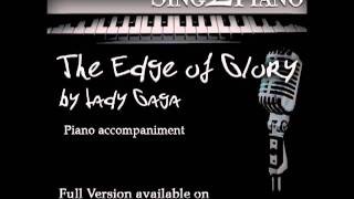 """LADY GAGA """"The Edge of Glory"""" (Piano backing for your cover/karaoke version)"""