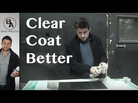How to clear coat better with spray cans