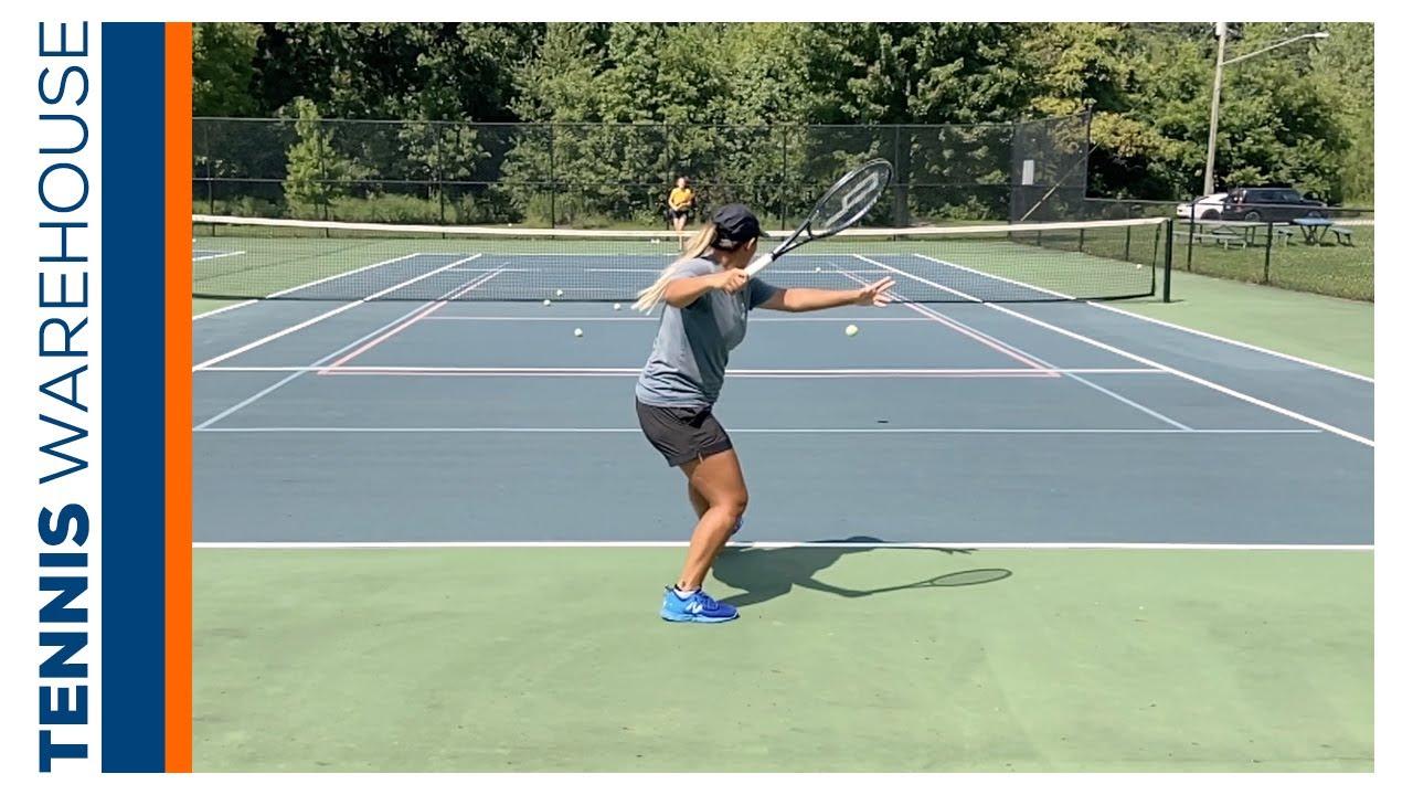 Pro Player, Tara Moore, tests some Prince Tennis String in her Phantom 100X! (Tour XC)⚡️