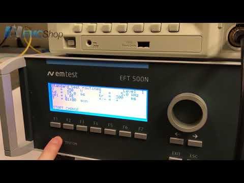 EM Test EFT500N5 Burst Electrical Fast Transient (EFT) Simulator Video Overview - Rental