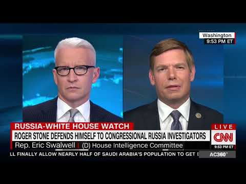 Rep. Swalwell on CNN discussing House Intelligence Committee's interview of Roger Stone