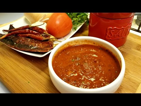 Easy Red Salsa Recipe - Salsa Roja de Chile Arbol
